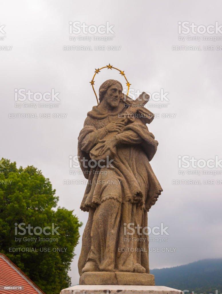 Figure of St. John of Nepomuk (John Nepomucene). stock photo