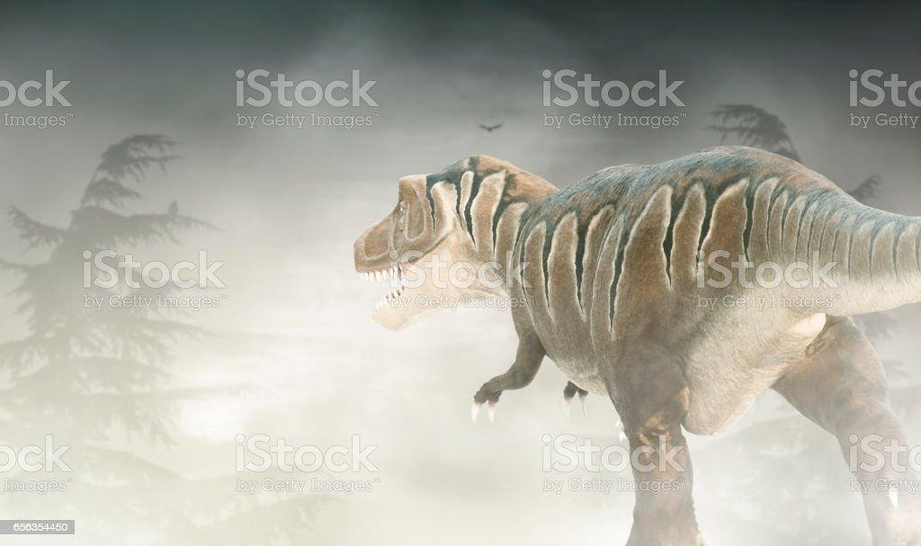 Figure of Tyrannosaurus stock photo