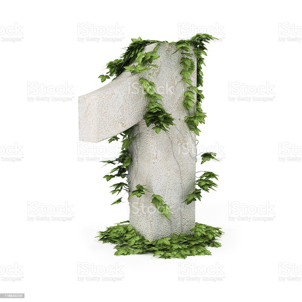 figure one threads covered with ivy royalty-free stock photo