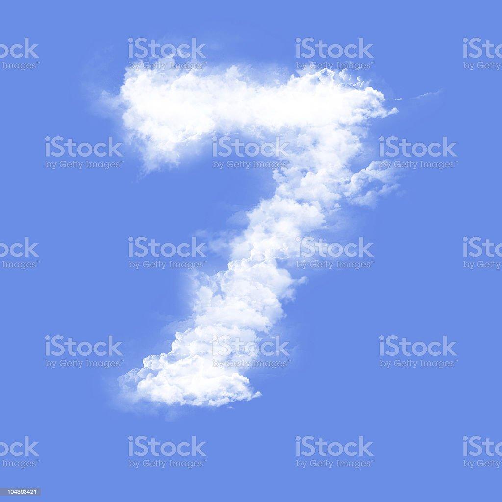 Figure seven royalty-free stock photo