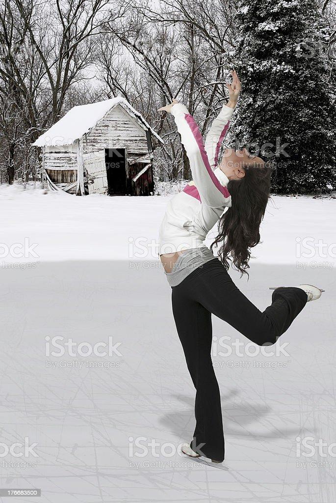 Figure Skater royalty-free stock photo