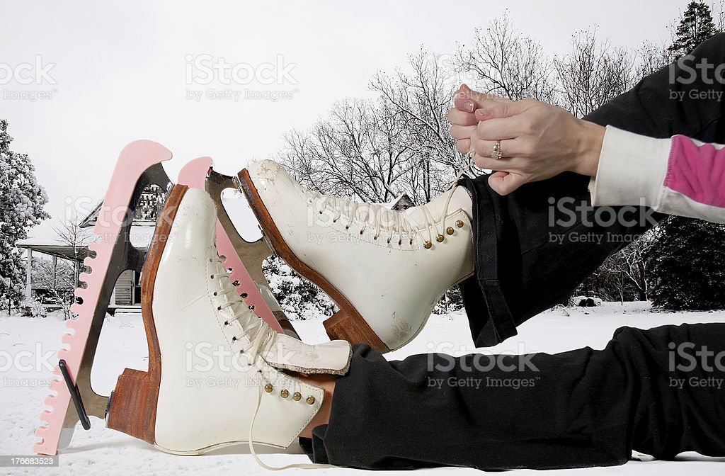 Figure Skater royalty-free stock photo