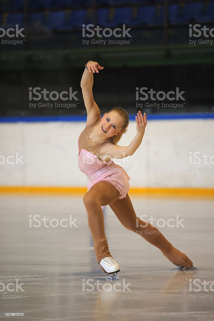 Figure skating performance stock photo