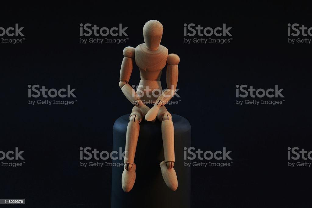 Figure thinking stock photo