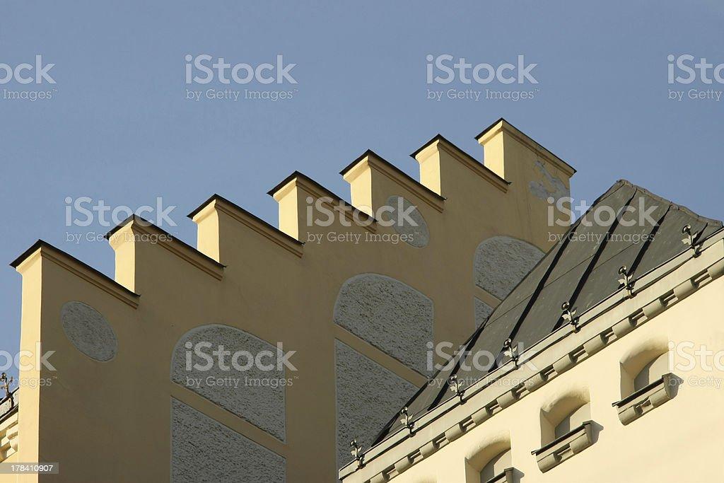 figured roof stock photo