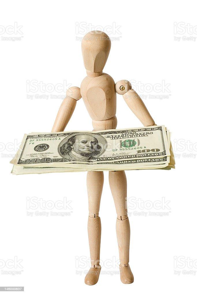 Figure,dollars,one royalty-free stock photo