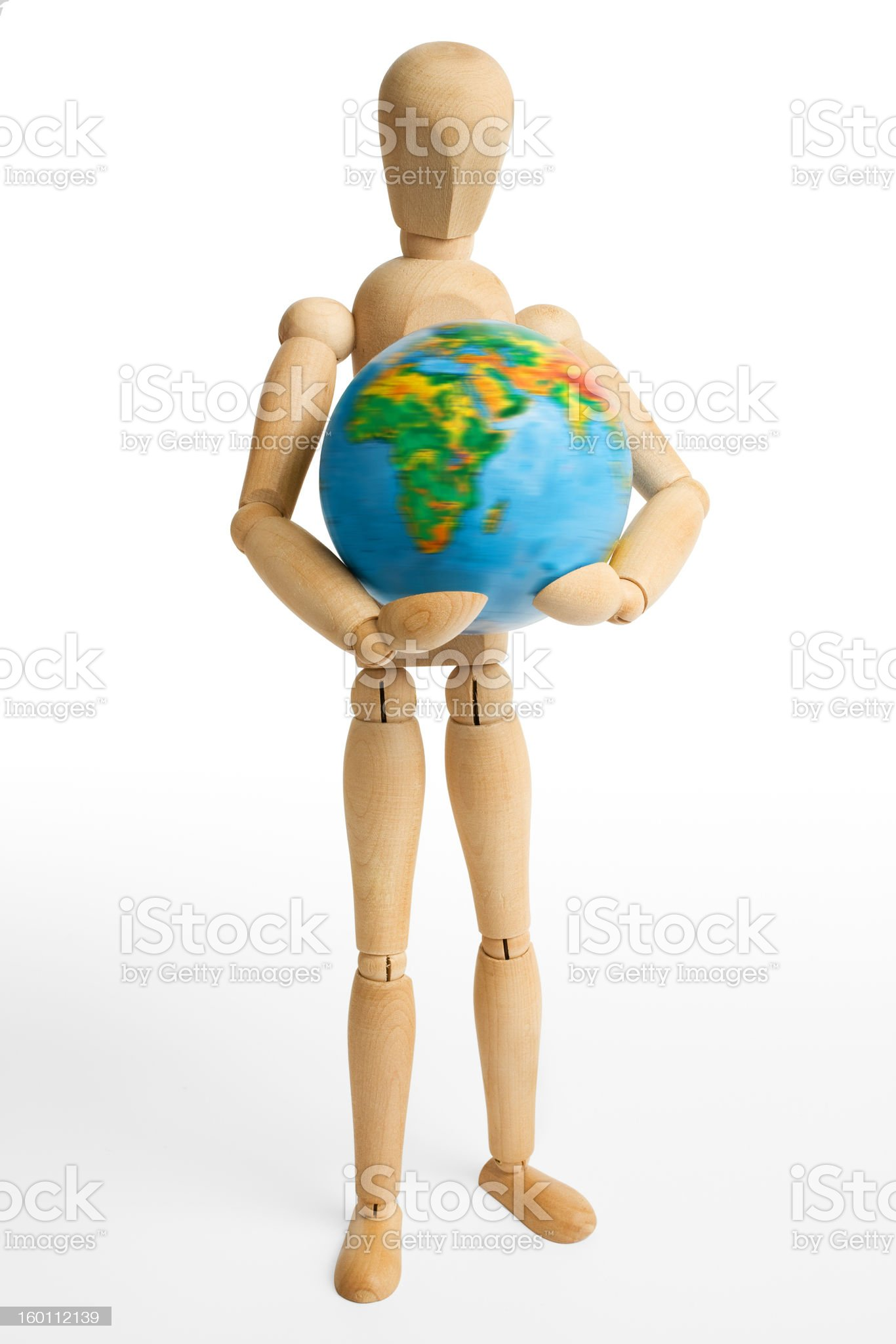Figure,Earth,one royalty-free stock photo