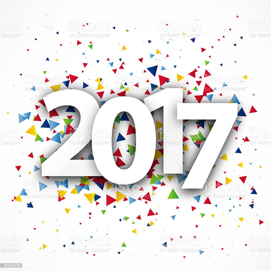 Figures 2017. Happy New Year and Merry Christmas stock photo