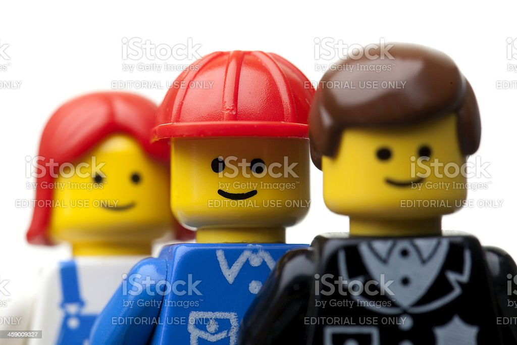 LEGO figures close up royalty-free stock photo