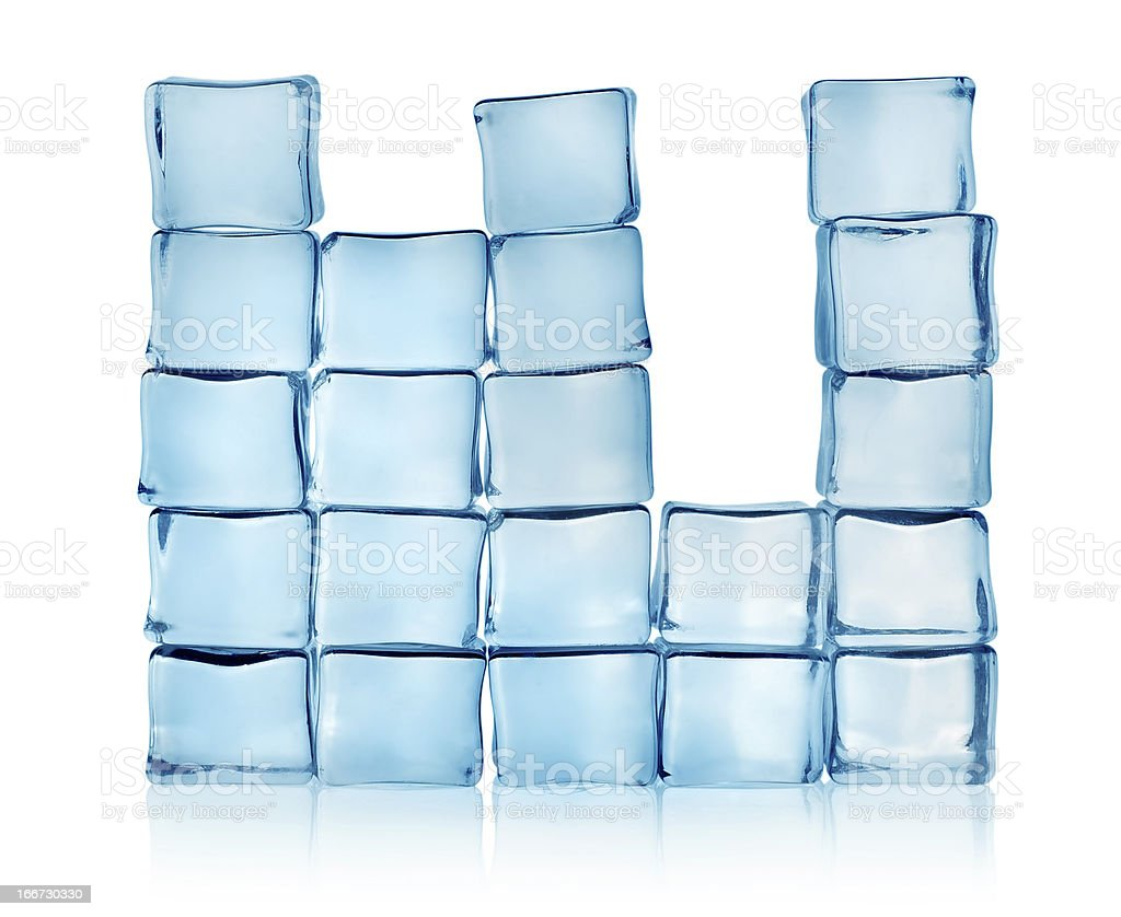 Figures from blue ice cubes royalty-free stock photo