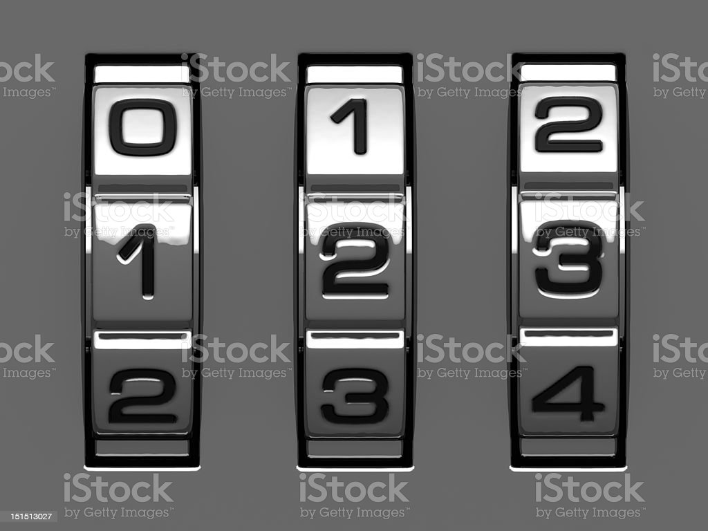 1, 2, 3 figures from code alphabet stock photo