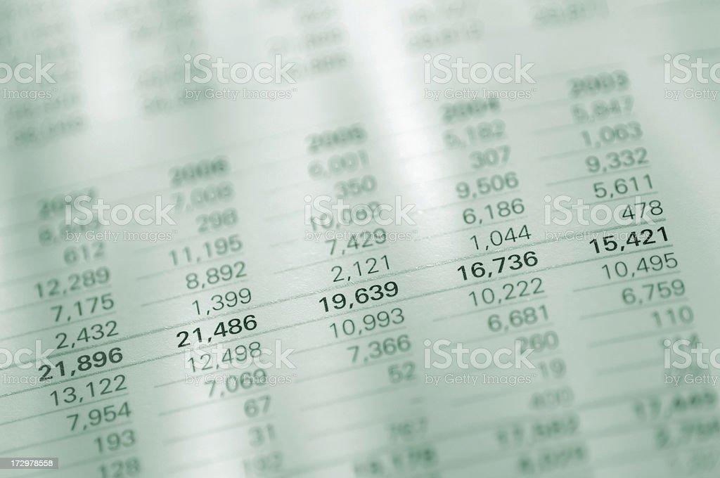 Figures in Report stock photo