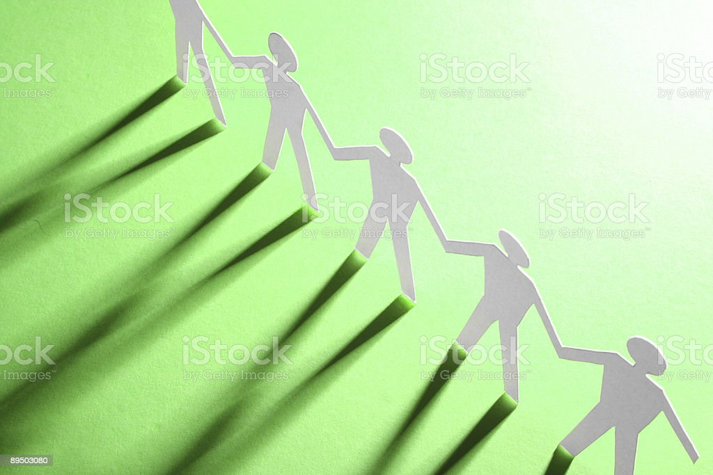 figures of man in paper stock photo
