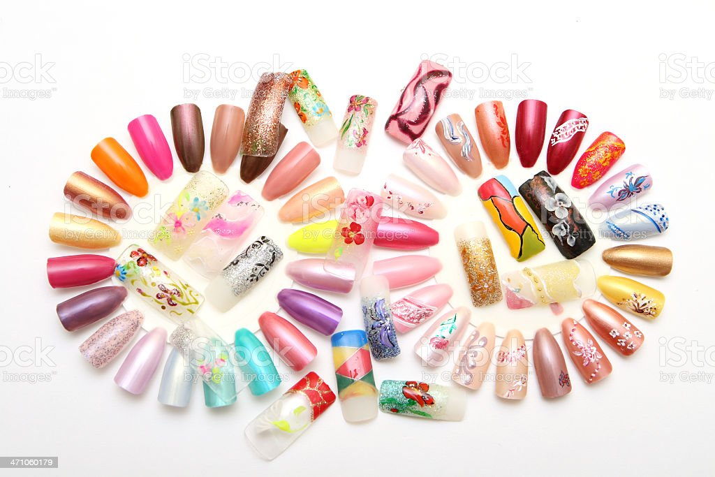 Figures on nails royalty-free stock photo