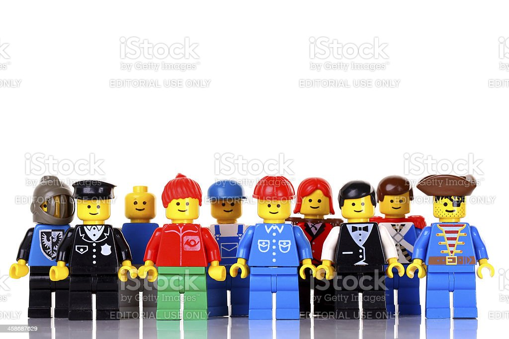 LEGO figures royalty-free stock photo