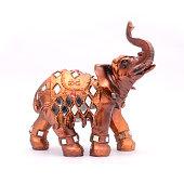 figurine an elephant isolated on white