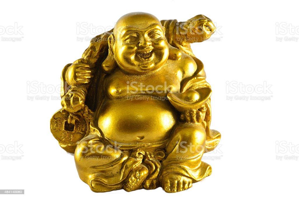 Figurine Cheerful Hotei stock photo
