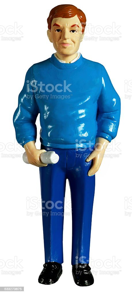 Figurine of a Man stock photo