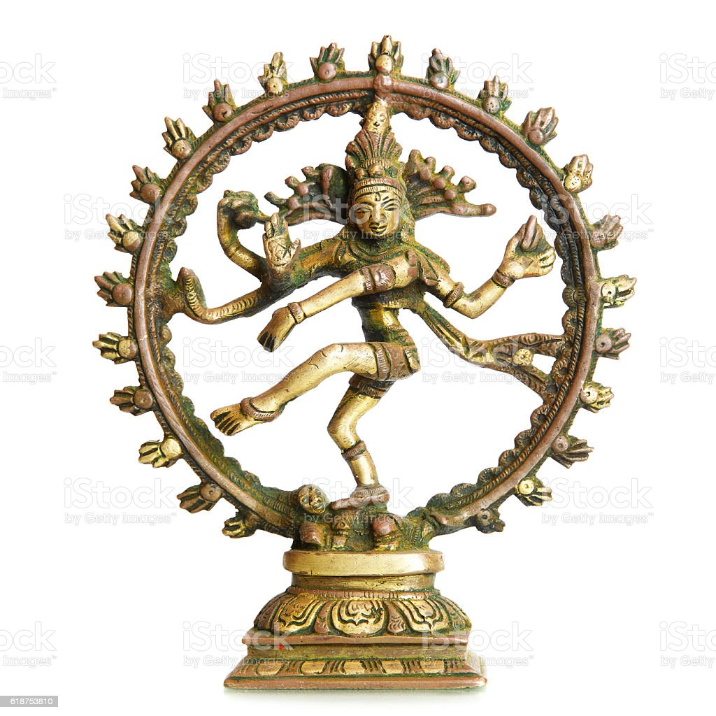 Figurine of Hindu God Shiva stock photo