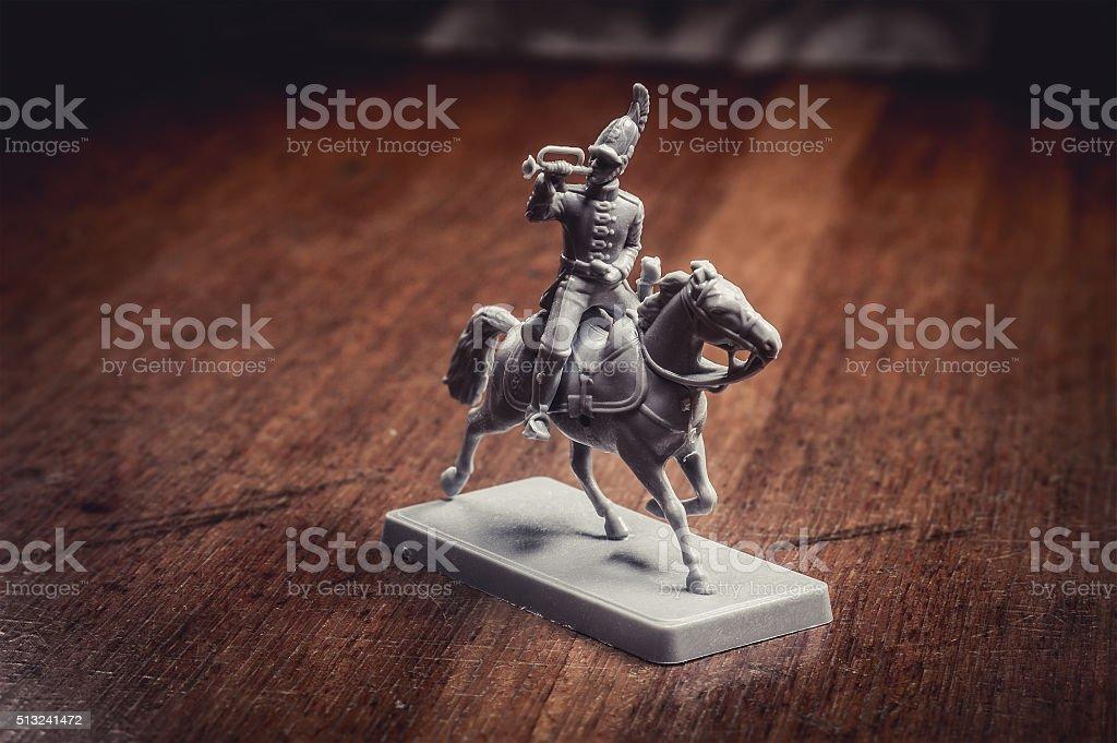 Figurine soldier, Russian dragoon stock photo