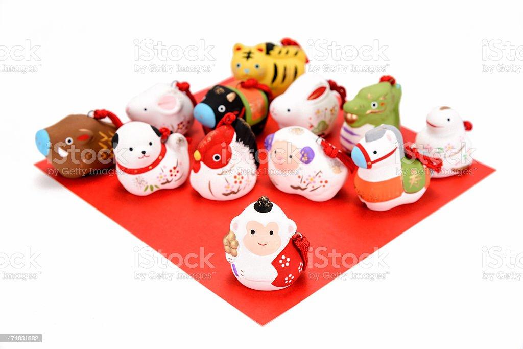 Figurines of the zodiac. stock photo