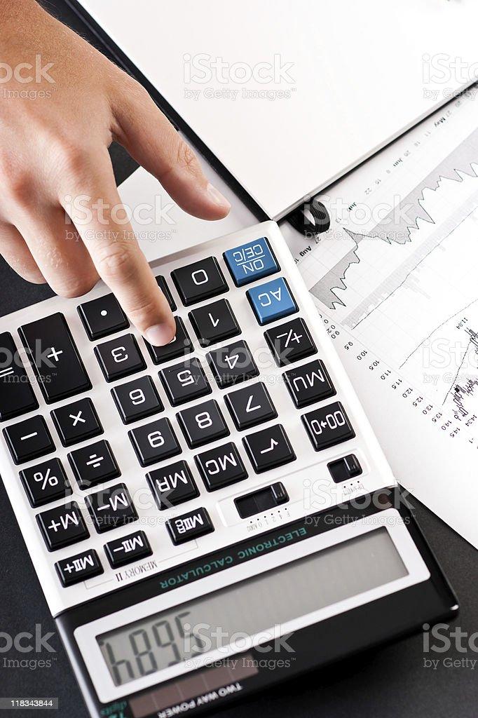 Figuring profit royalty-free stock photo