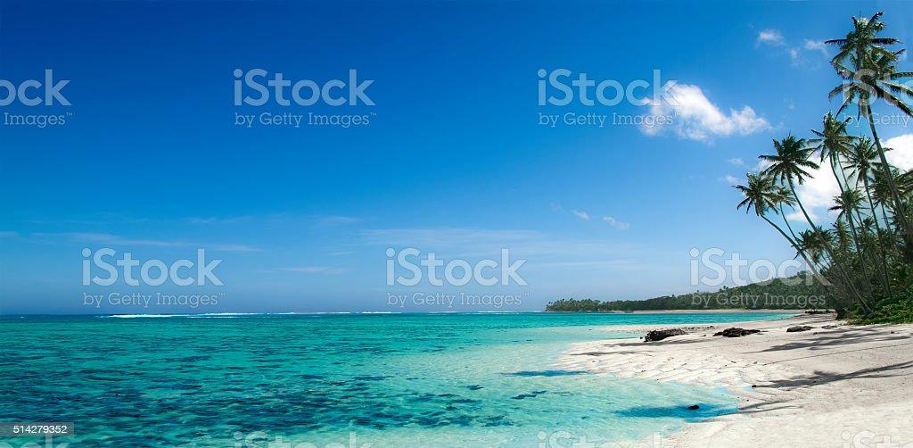 Fiji beach a dream come thru stock photo
