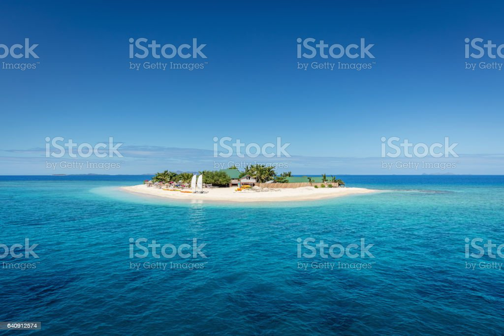 Fiji Mamanuca Islands Beautiful Small Islet stock photo