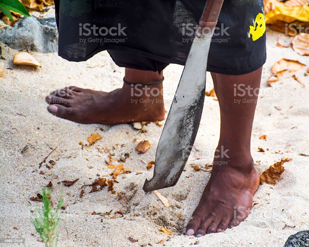 Fiji Man stock photo