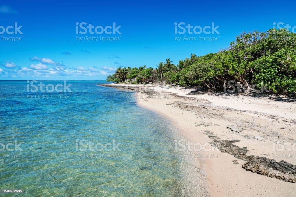 Fiji Natural Beach Fiji Island stock photo