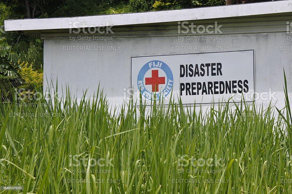 Fiji Red Cross Disaster Preparedness stock photo