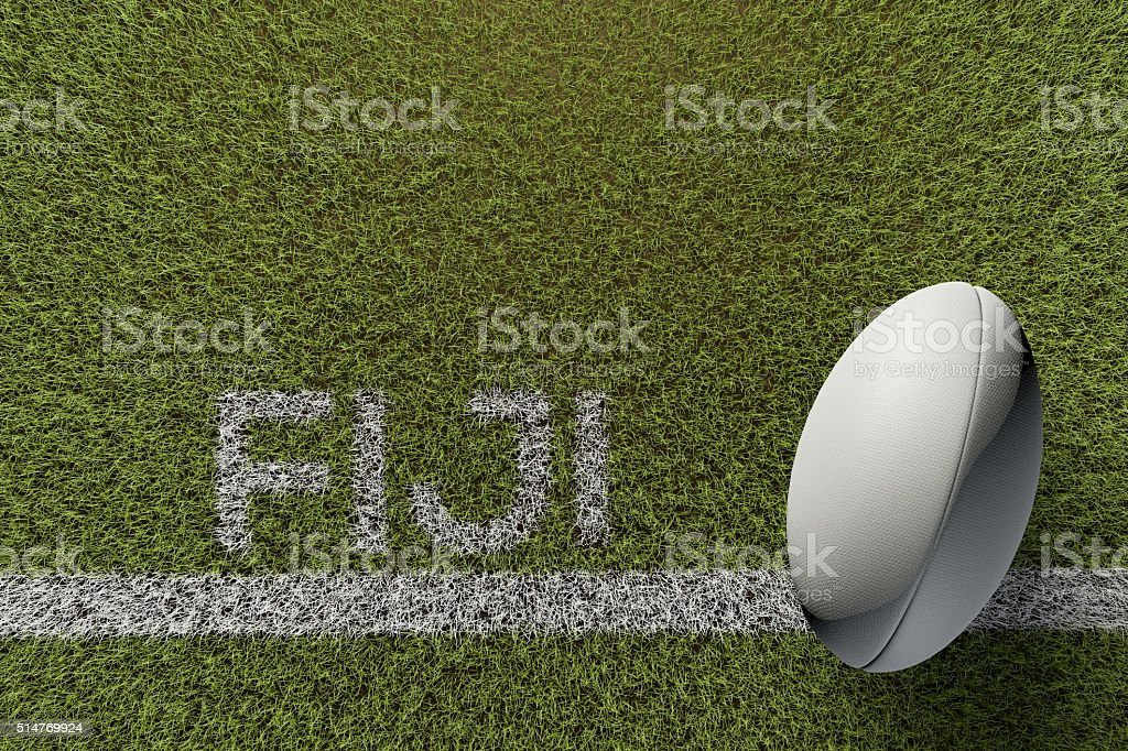 Fiji rugby background stock photo