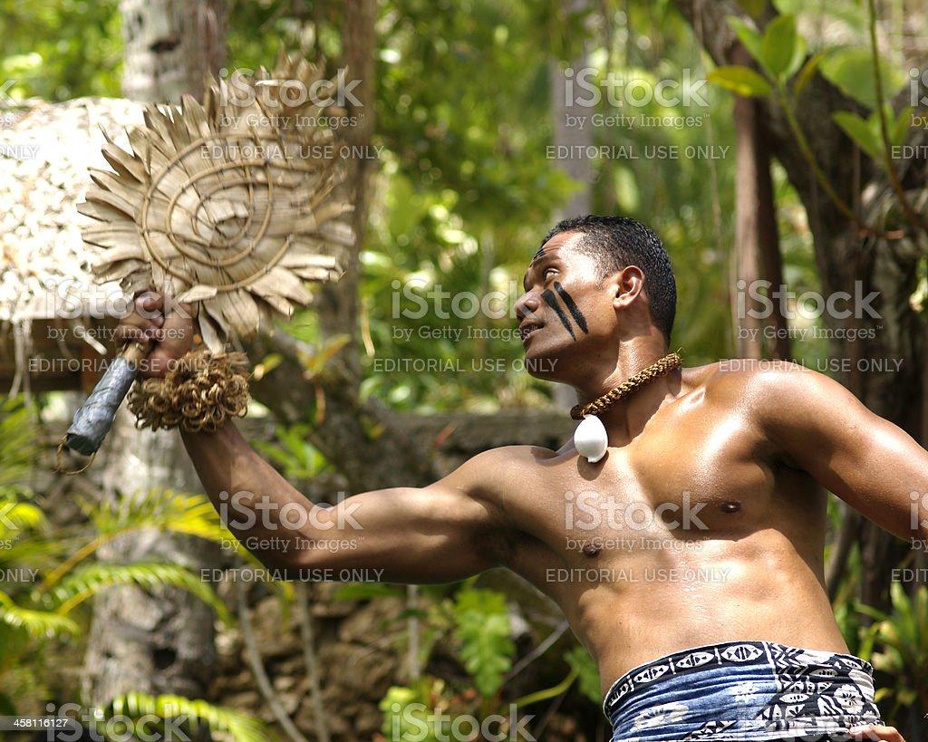 Fijian Dancer stock photo