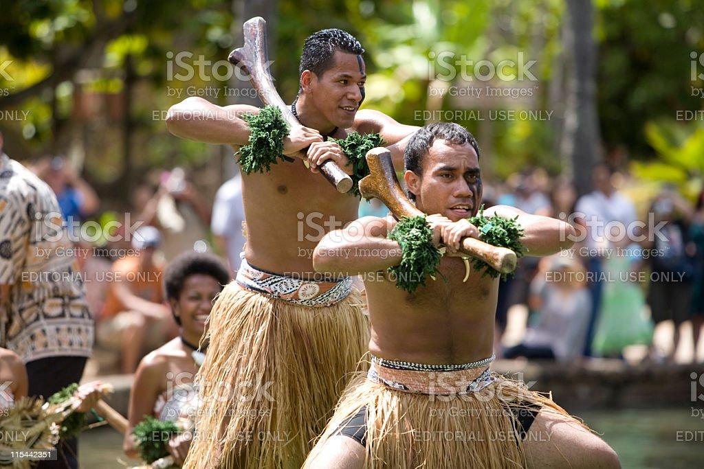 Fijian Dancers stock photo