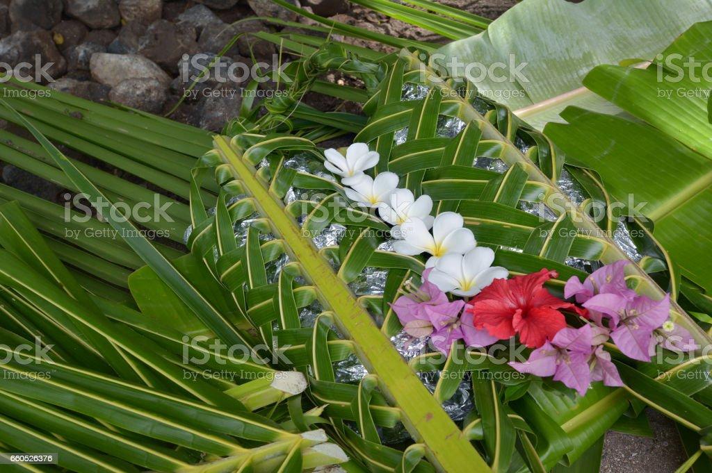 Fijian food Lovo in Fiji Islands stock photo