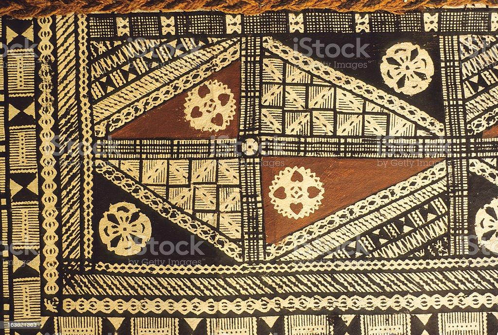 Fijian Tapa Cloth stock photo