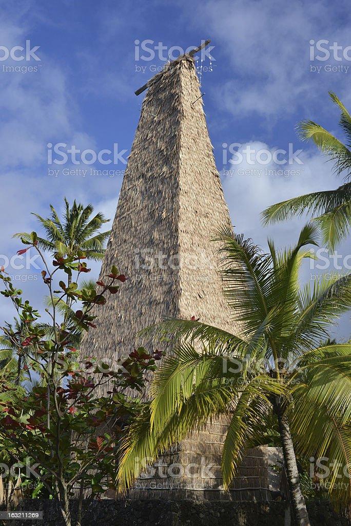 Fijian temple royalty-free stock photo