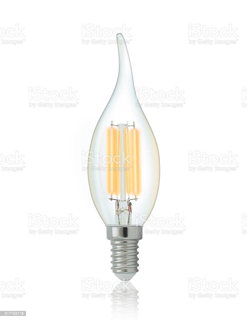 LED filament light bulb stock photo