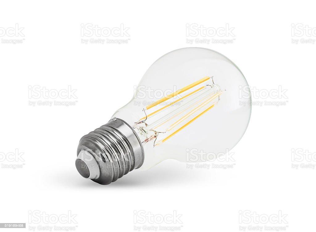 LED filament light bulb (E27) stock photo