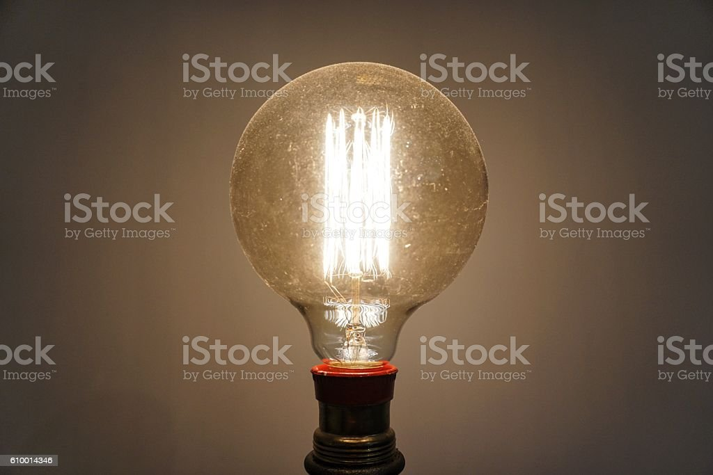 Filament Light Bulb stock photo