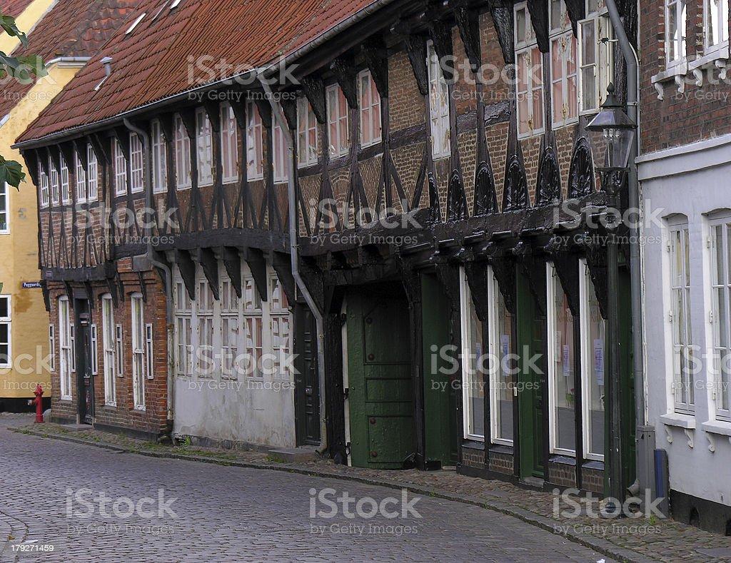 Filare di case stock photo