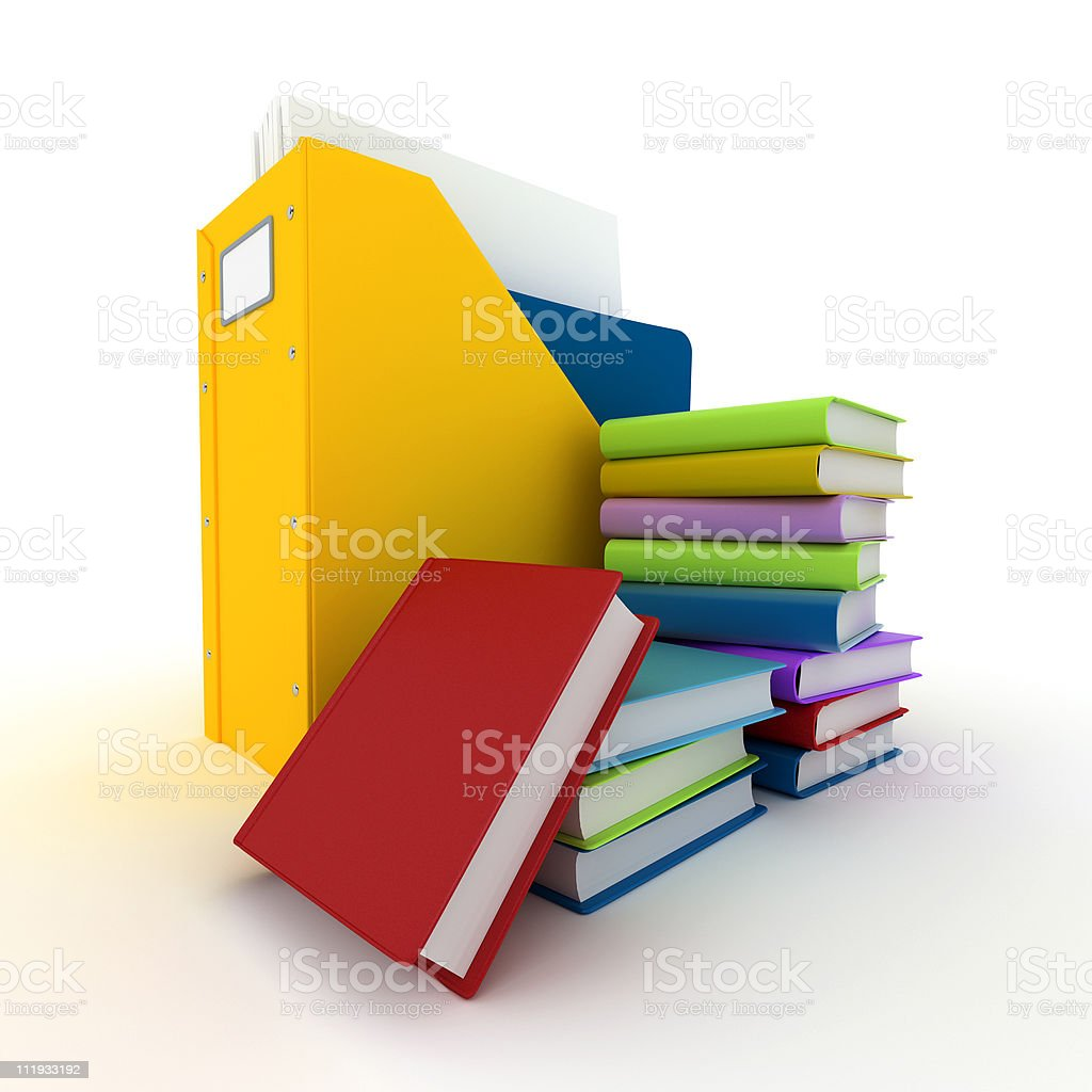 File and books royalty-free stock photo