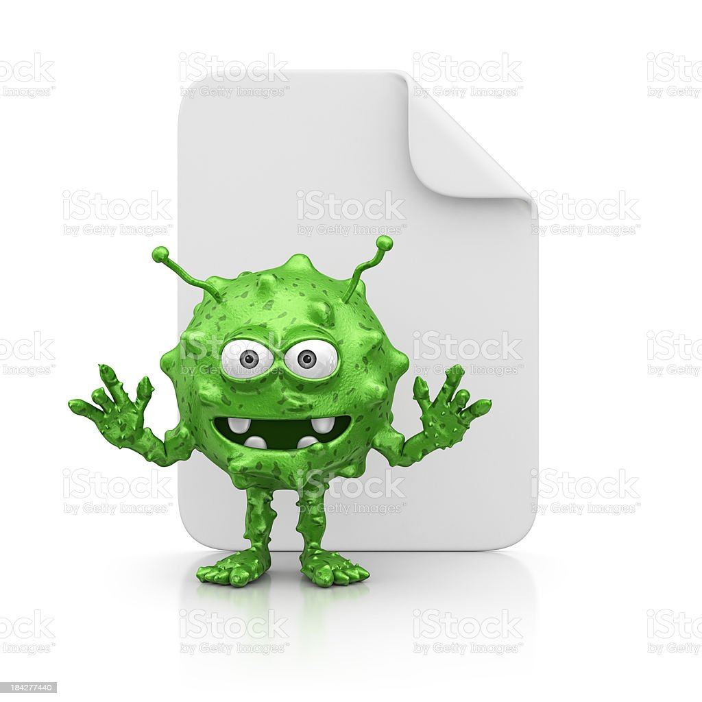 file and virus royalty-free stock photo