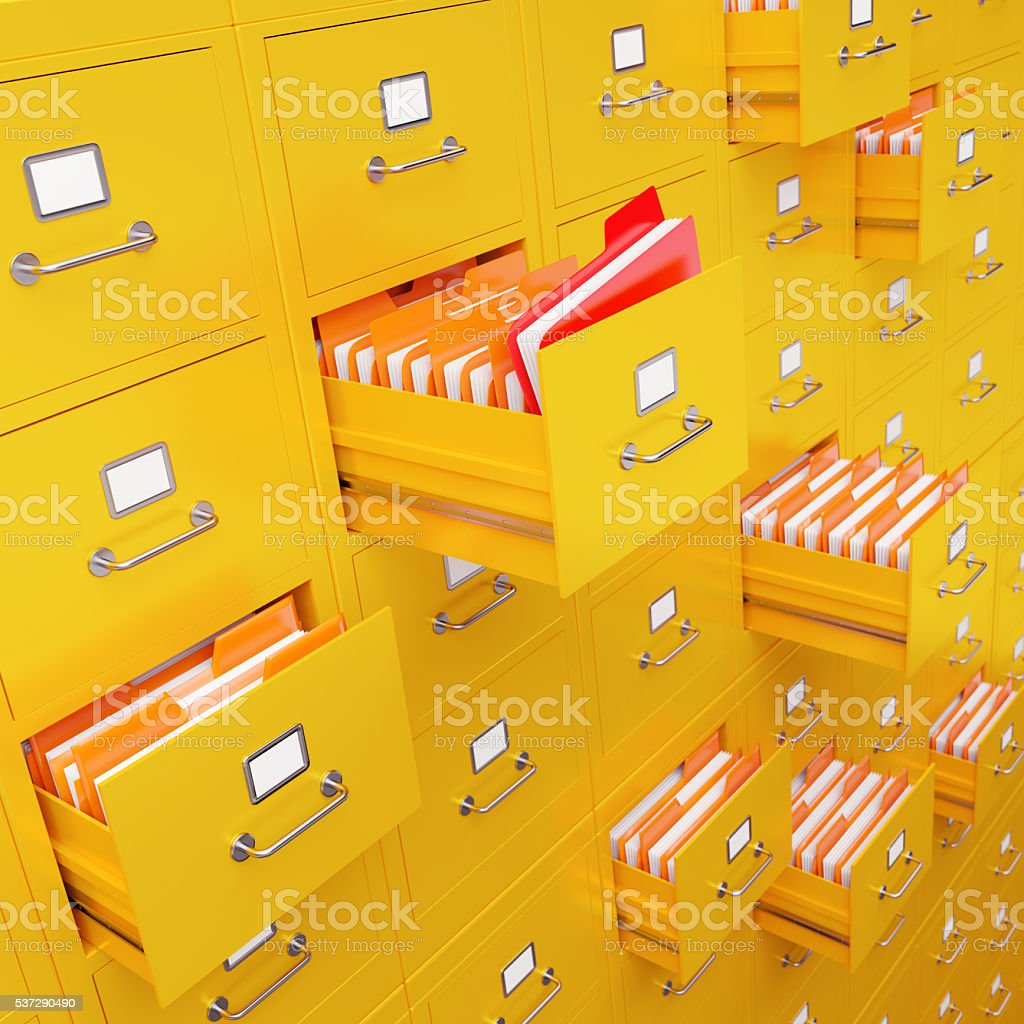 File cabinet 3D rendering stock photo