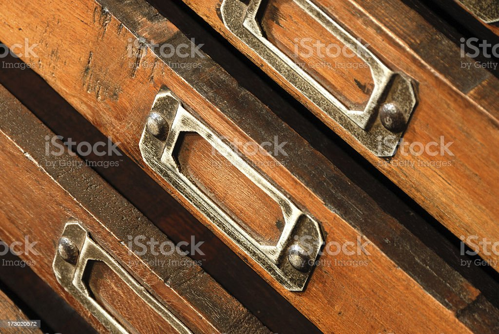 File cabinet closeup royalty-free stock photo