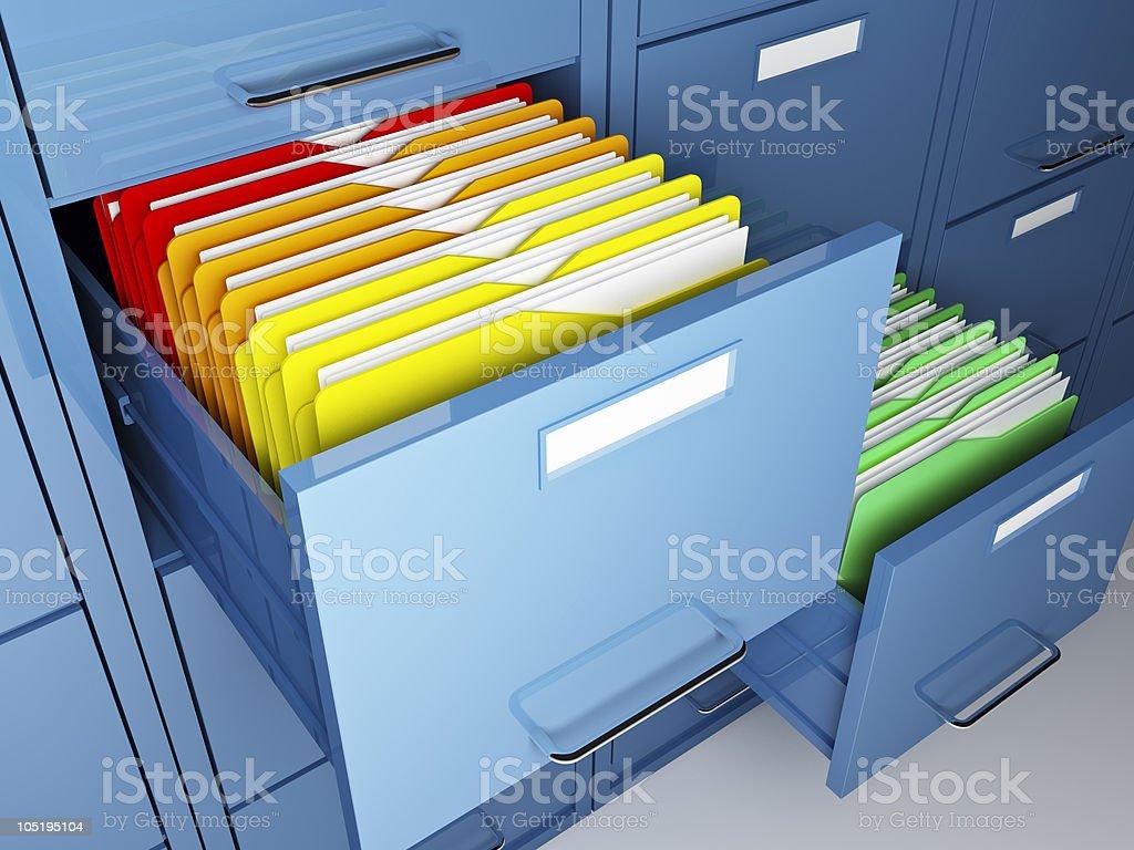 file cabinet detail vector art illustration