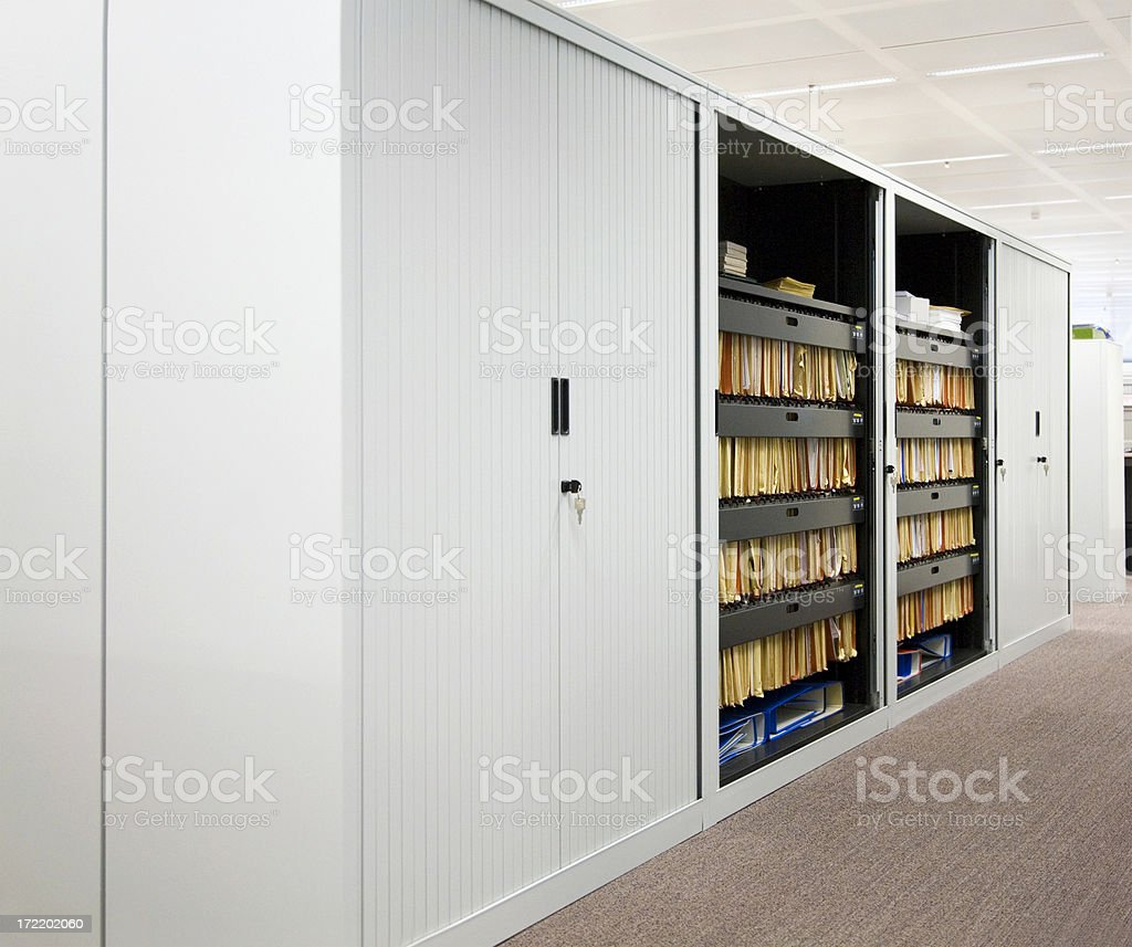 File cabinet in office royalty-free stock photo