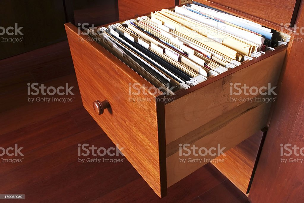 File cabinet - Wood royalty-free stock photo