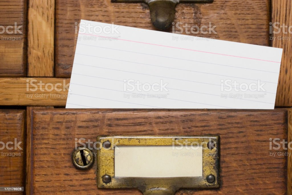 File Card royalty-free stock photo