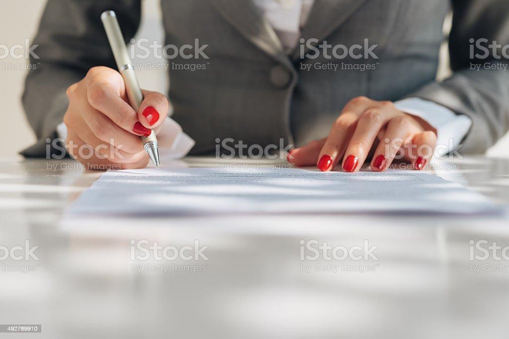 File clerk stock photo